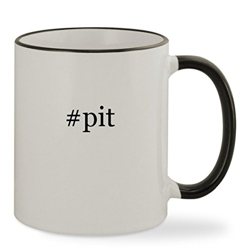 #pit - 11oz Hashtag Colored Rim & Handle Sturdy Ceramic