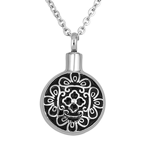 (Infinite Memories Celtic Flower Pendant Urn Necklace for Cremation Ashes Women)
