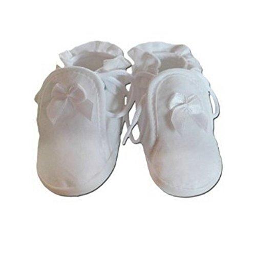 Ikumaal Festlicher Schuh Für Taufe Oder Hochzeit Taufschuhe Für Baby Babies  Mädchen Jungen Kinder in Verschiedenen Größen 1619 Tp09 Weiß ...