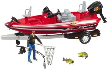 Amazon Com Bass Pro Shopsnitro Big Adventure Toy Boat Set Toys Games