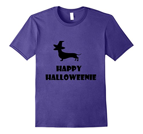 Weiner Costumes Halloween (Mens Happy Halloweenie T-Shirt Dachshund Halloween Weiner Dog Tee Medium)