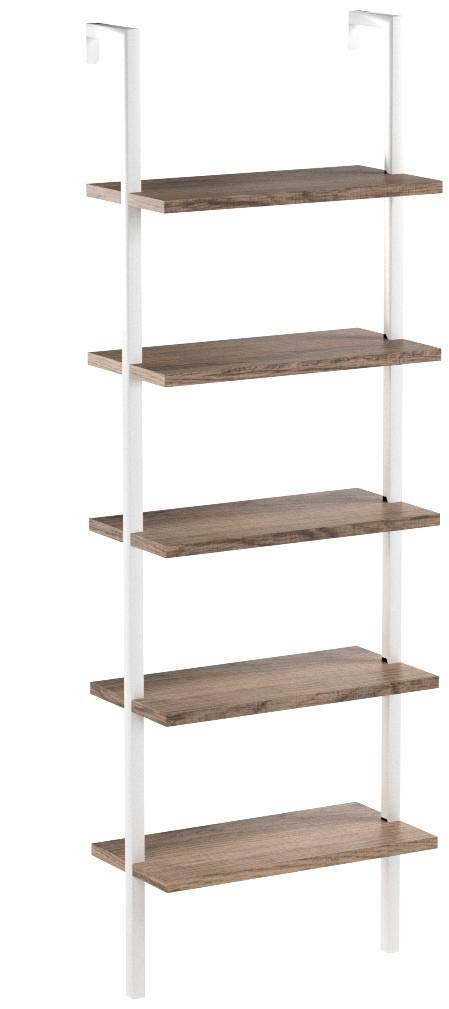 Nathan James 65502 Theo Wood Ladder Bookshelf, Bookcase, Natural Brown/White by Nathan James (Image #9)