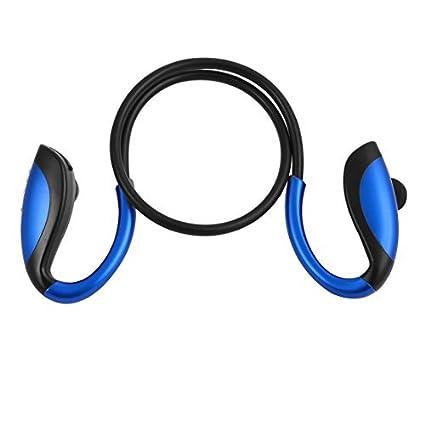 eDealMax Estéreo Deporte Teléfono inalámbrico en la oreja de cancelación de ruido Auricular Bluetooth Azul