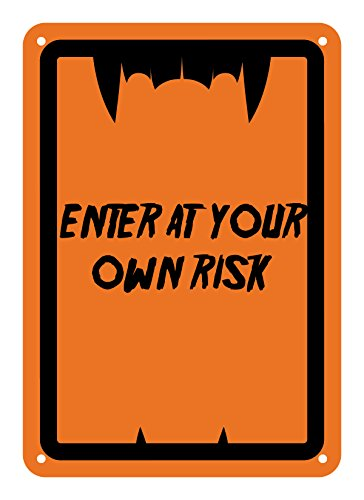 Reflective Aluminum Halloween Sign