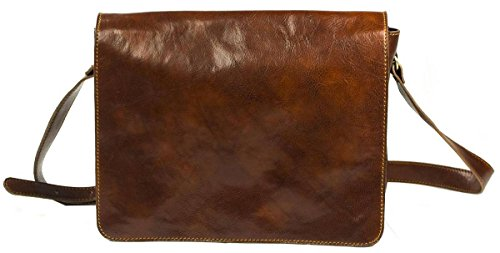 Brown Leather Messenger Bag by David Van Hagen