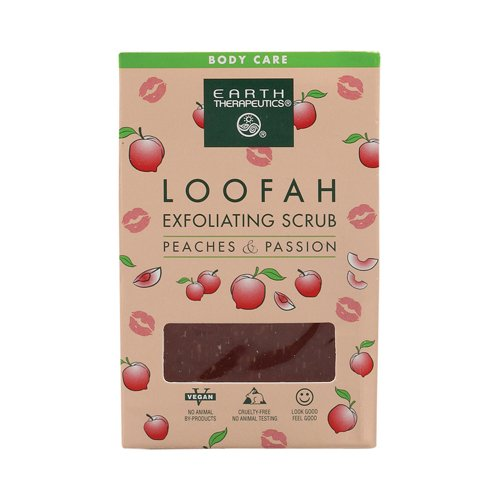 Peach Exfoliating Soap (Earth Therapeutics Loofah Exfoliating Bar Soap Peaches and Passion - 4.2 oz - (Pack of 3))