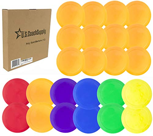 U.S. Coach Supply Rainbow Poly Spot Markers - 12 Pack from Coast Athletic Brands
