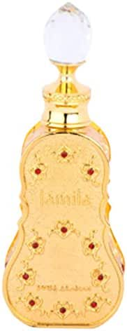 JAMILA, Perfume Oil for Women 15ml | Exquisite Fruity, Floral, Musky Woody | Tangerine, Apple Marmalade, Jasmine, Rose, Vanilla, Musk, Amber, Sandalwood, Ebony | Alcohol Free Attar, Vegan Fragrance