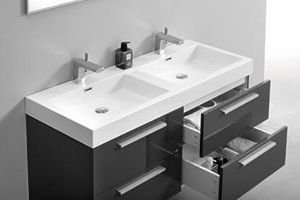 Meuble double salle de bain meuble double vasque de - Amazon meuble de salle de bain ...
