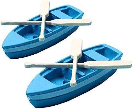 UYTSXFH - Juego de 2 Piezas de Resina Azul para Barco con pádel y decoración de casa
