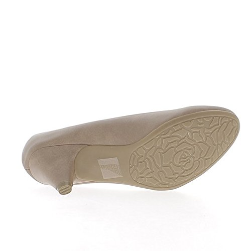 Heel Classic Taupe 6cm Pumps Tips Round 64pawqBxp