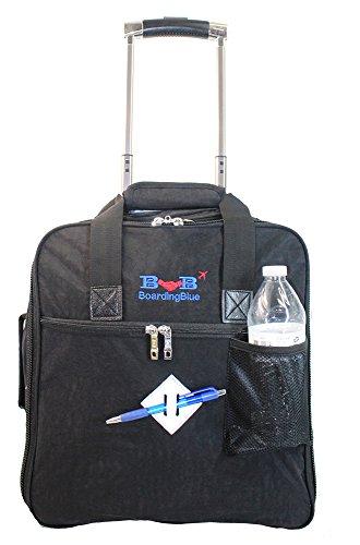 (New BoardingBlue Allegiant Air Rolling Free Personal item Under Seat (Black))