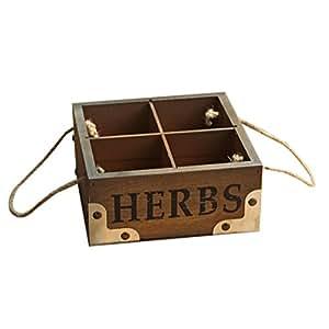outflower Retro Madera carnosas maceta de madera caja de almacenaje