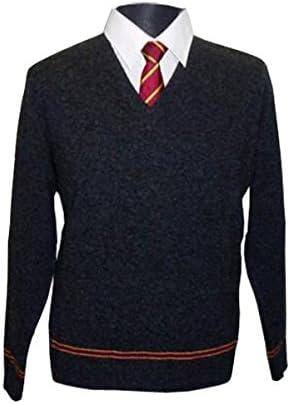 100/% lana di pecora nero M dai film di Harry Potter Maglione dell/'uniforme di Grifondoro