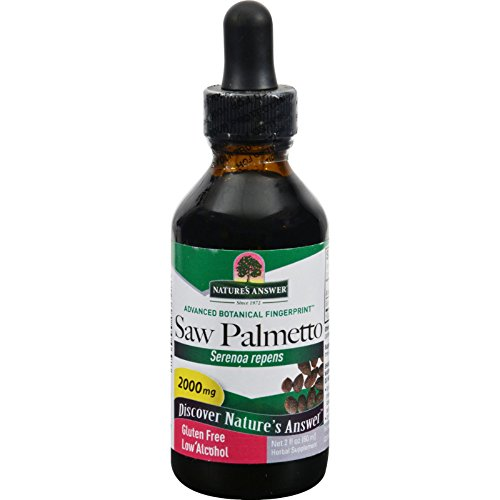 Natures Answer Saw Palmetto Berry - 2000 mg - Herbal Supplement - Gluten Free - 2 fl oz (Pack of 2)