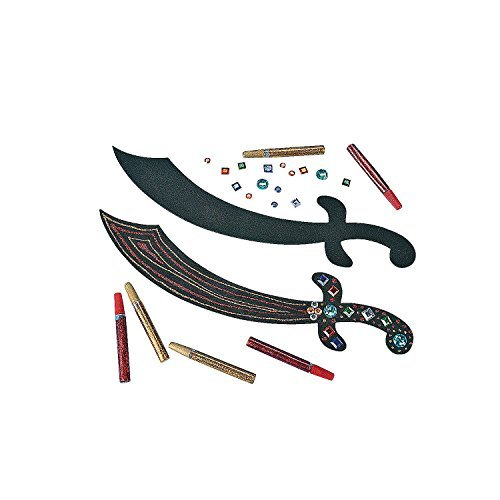Pirate Sword Craft Kit 12 ct