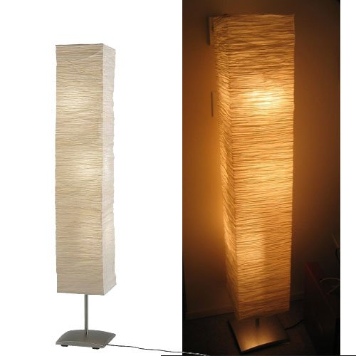 Rice paper floor lamp amazon rice paper shade mood floor lamp with 6 warm led bulbs are included mozeypictures Image collections