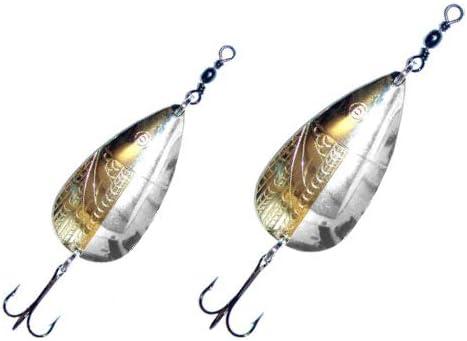 Allcock 3 Norwich Brass Copper Spoon Salmon Pike Lure