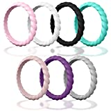 Product review for DSZ Stackable Silicone Wedding Rings for Women-Thin Stackable Rubber Bands for Beach Workout Travel Sports Females- Add These Ring to Your Fashionable Matching Clothes with 3-7&10 Packs