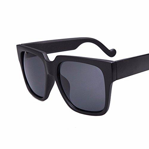 personalidad negro gafas big de cara Gafas sol box claro sol big claro retro box redonda XIAOGEGE square de Negro ZwtnBqqp