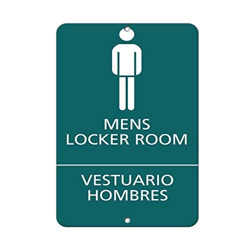 Dozili Mens Locker Room Vestuario Hombres Ada Sign Metal Sign ES for Home Club Beer Decor 8