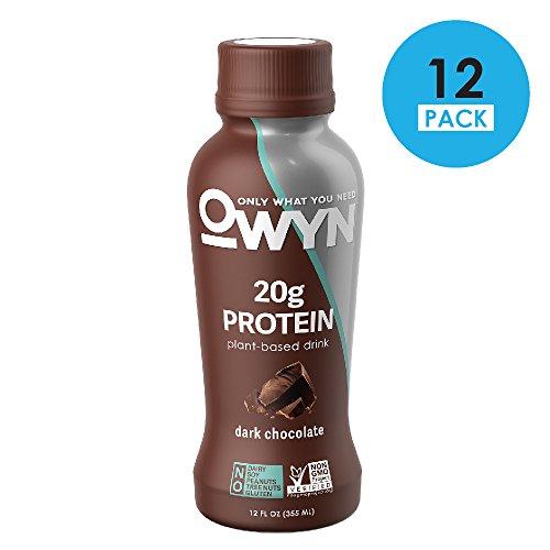 Shake Protein Pea (OWYN 100% Plant-Based Vegan Allergen-Friendly Protein-Shake Parent (Dark Chocolate - 12 Pack))
