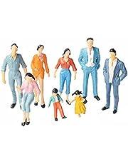 Mini Mensen Cijfers 1:87 Geverfd Zich Stelt Ho Schaal Voor Model Train Miniature Scenes Dollhouse 24pcs
