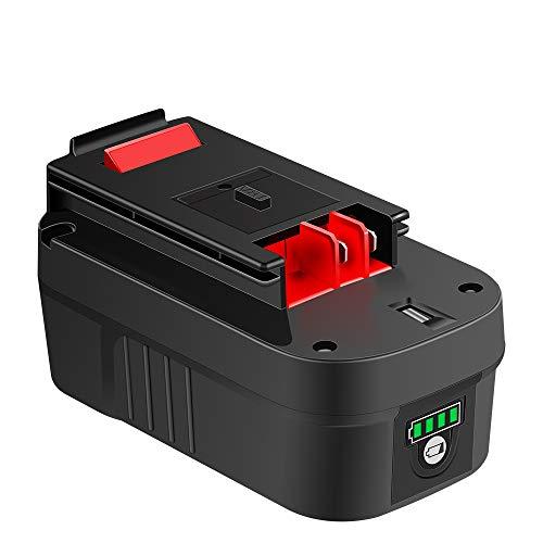 【Upgrade】 Sankeup HPB18 18Volt Lithium-ion 5000mAh Replacement Battery for Black & Decker 244760-00 HPB18 Battery A1718 A18 A18E HPB18-OPE Firestorm FS180BX FS18BX FS18FL FSB18 (Black And Decker 18volt Battery)