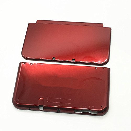 Meijunter Red Replacement Top&Bottom Housing Shell Case Cover Faceplate Part for Nintendo NEW 3DSXL Console