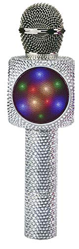 Wireless Express Sing-Along Bling Bluetooth Karaoke Microphone and Bluetooth Stereo Speaker All-in-One