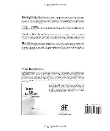 Teach Me Language A Language Manual for Children with Autism, Asperger's Syndrome and Related Developmental Disorders