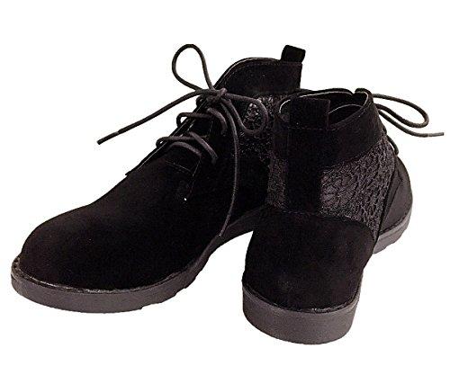 Pour Toujours Lien Normen-42 Femmes Classique Lace Up Robe Oxfords Chaussons Cheville Mocassin Chaussures Mocassin Noir