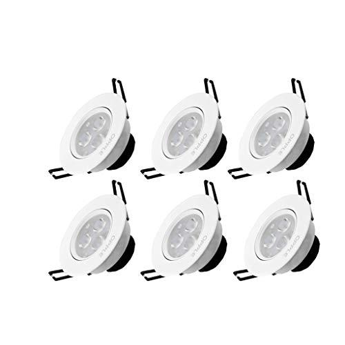 - Panel light, 6 Packs Round Open Hole Downlight Led Ceiling Light Living Room Aisle Recessed Lighting Fixturee,6000K White Light 0520A (Color : Yellow Light, Size : 7wOpen holeD9~9.5cm)