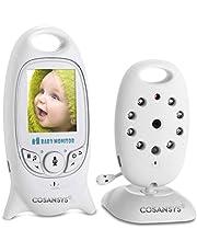 Babyphone mit Kamera Video Baby Monitor Gegensprechfunktion Digital kabellose Überwachungskamera ( Schlafmodus, Nachtsicht, Temperatursensor, Schlaflieder ), 2.0 Zoll LCD Display
