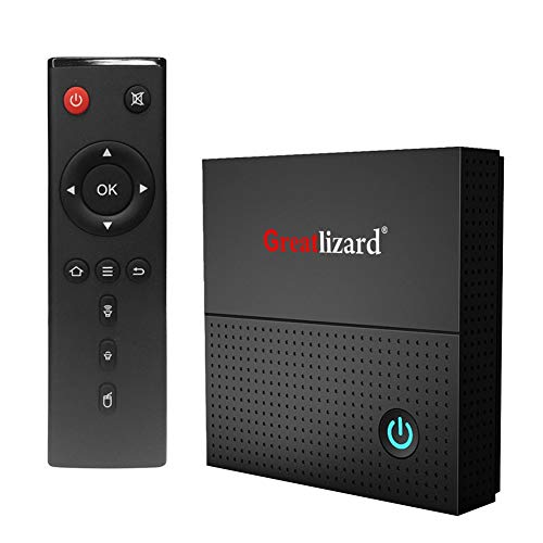 Greatlizard Android 9.0 TX92 S912X TV Box Octa Core 3G RAM 32G ROM 2.4G/5G Dual WiFi Bluetooth 4.0 4K HD with IR Remote…