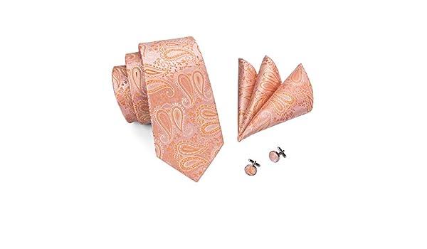 FDHFC Corbata De Calidad Coral Rosa Corbatas Florales para Hombres ...