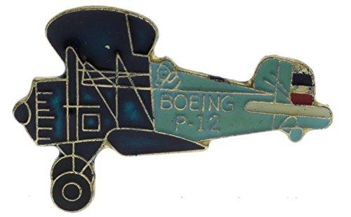 Boeing P-12 Biplane Plane 1 Inch Hat Lapel Pin (Plane Hat Pin)