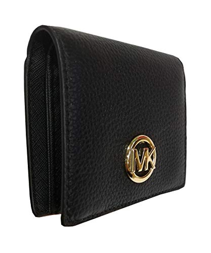 4e2289dcaf22 Amazon.com: Michael Kors Fulton Leather Carryall Card Case Wallet (Black):  Clothing