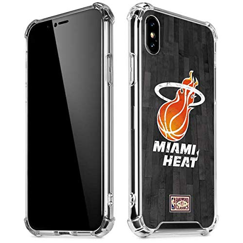 Skinit Miami Heat Hardwood Classics iPhone X/XS Clear Case - Officially Licensed NBA Phone Case Clear - Transparent iPhone X/XS Cover