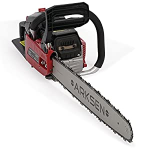 ARKSEN | Gasoline Powered Chainsaw | Wood Cutter | 22 Inch Bar | w /Aluminum Crankcase | 45cc | 12,000 RPMs | Two Stroke