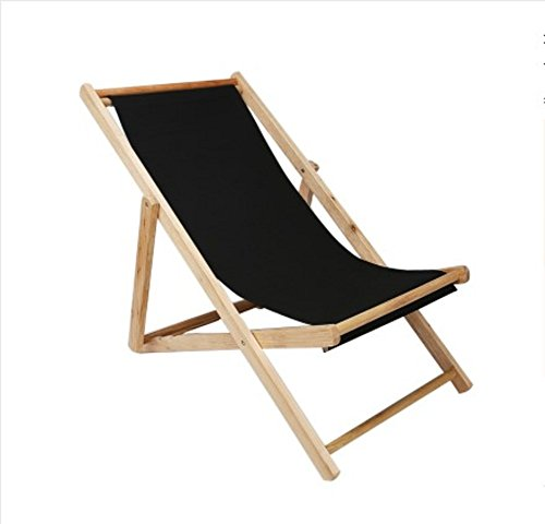 Beach chair, Deck chair Solid wood recliner Chair Outdoor Portable Lunch break-B W48xH75cm(19x30inch)