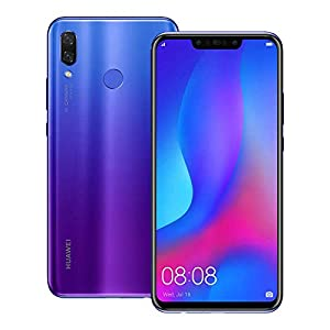 Huawei nova 3 (PAR-LX9) 6GB / 128GB 6.3-inches LTE Dual SIM Factory Unlocked – International Stock No Warranty (Iris Purple) (Renewed)