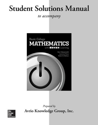 Student Solutions Manual for Basic College Mathematics with P.O.W.E.R. Learning