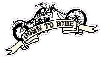 Auto Motorrad Aufkleber Born to Ride Spruch Motorcycle Bike sticker