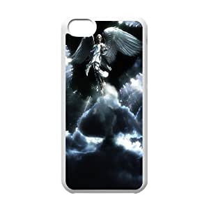 Jumphigh Angel IPhone 5C Case Rising Angel, [White]