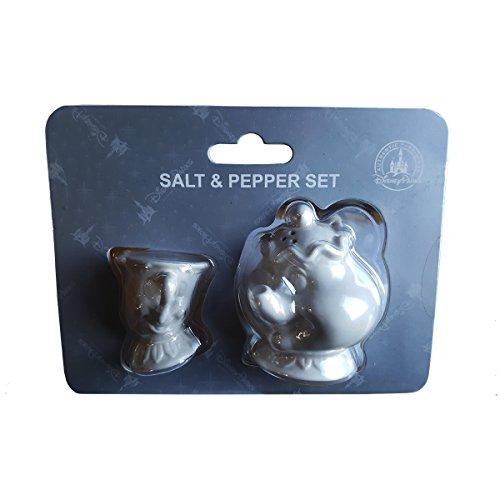 Disney Parks Beauty and The Beast Chip & Mrs Potts Salt / Pepper Shakers (Salt Costumes)