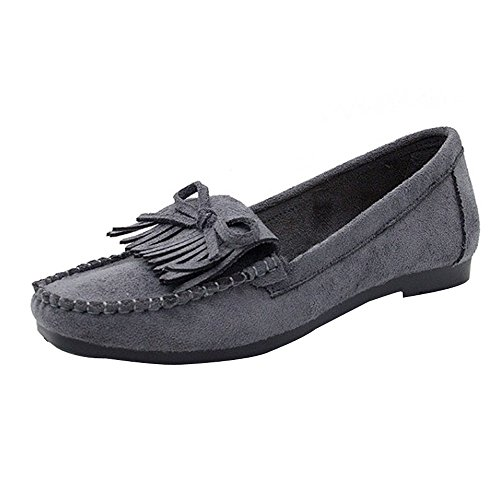 Women Frige Round Head Slip-on Non-Slip Sole Casual Shoes Lazy Shoes Peas Shoe Duseedik