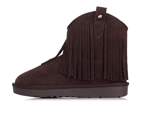Neige Gland Plat Taille D'hiver Coton À Boots Chaussures Couleur nwOAHqPwg