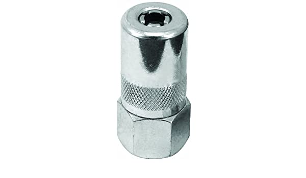Pack of 6 Lumax LX-1400-6 Silver 1//8 NPT Standard Grease Coupler,