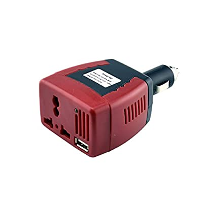 Cocolili 150W Power Inverter DC 12V to 110V AC Car Inverter Converter with 2.1A USB Car Charger for Road Trips Vacations Outdoors Emergency Kits For Your Vehicle